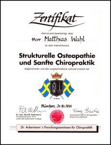 Urkunde Ackermann